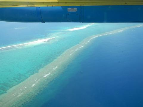 機内から見る「はての浜」