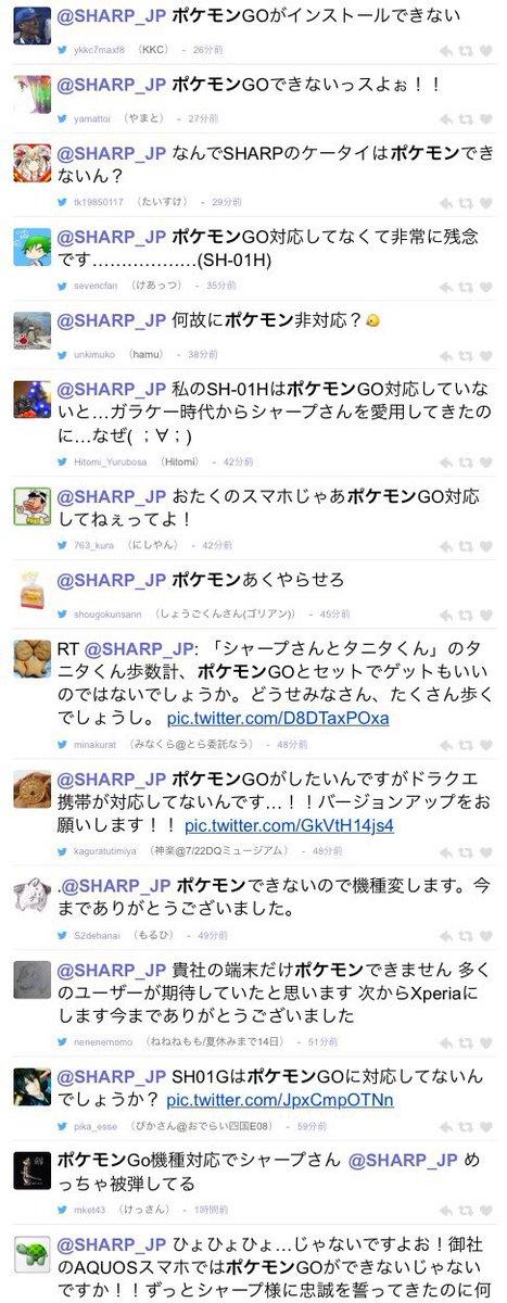 シャープへのツイート
