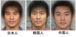 【欧米人の日中韓の見分け方】 日本人:鼻高で目が大きい 中国人:丸顔で艶 韓国人:エラ、一重、ツリ目、平坦