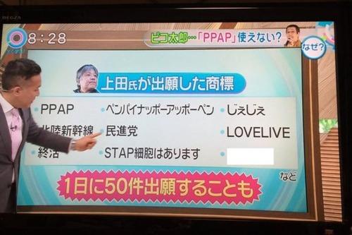 【商標893】ピコ太郎の『PPAP』の商標権を横取りした元弁理士の上田育弘「歌いたければ金を払え!」