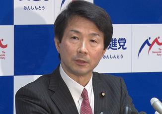 【民進】大塚代表が新党結成表明、了承 希望の党との合流念頭 「『中道的な新しい民主党』に同志糾合」