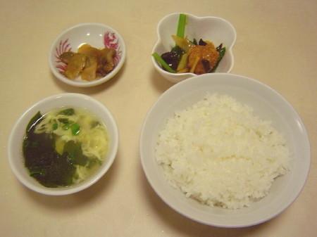 ライス・スープ・小鉢・ザーサイ