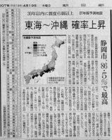 大地震の確率