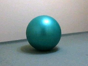 ボールでストレッチ(太もも後ろ側、股関節)