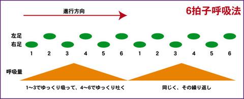 楽に長く走る方法/11の2・・・6拍子呼吸法