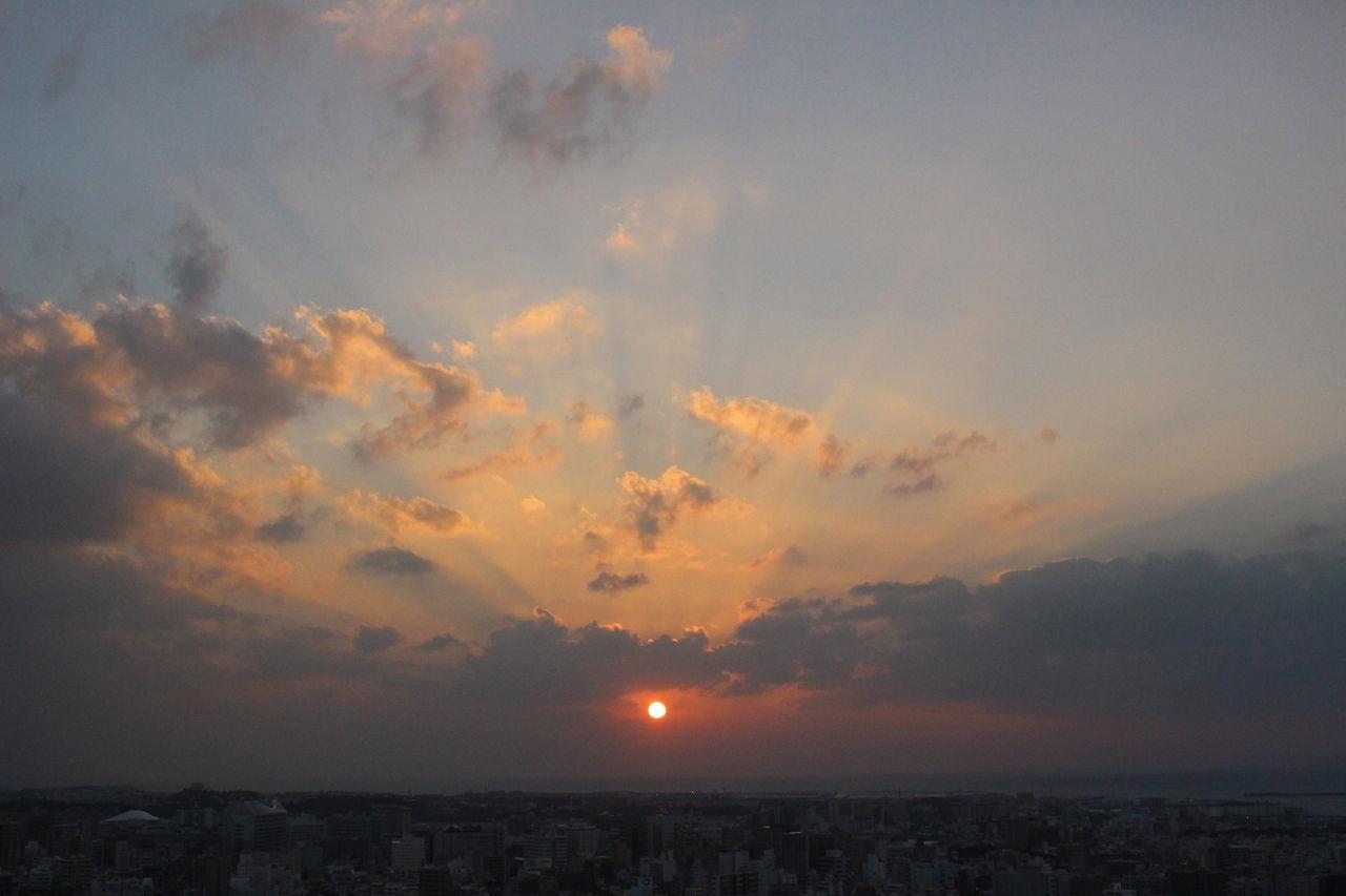 12月の夕日