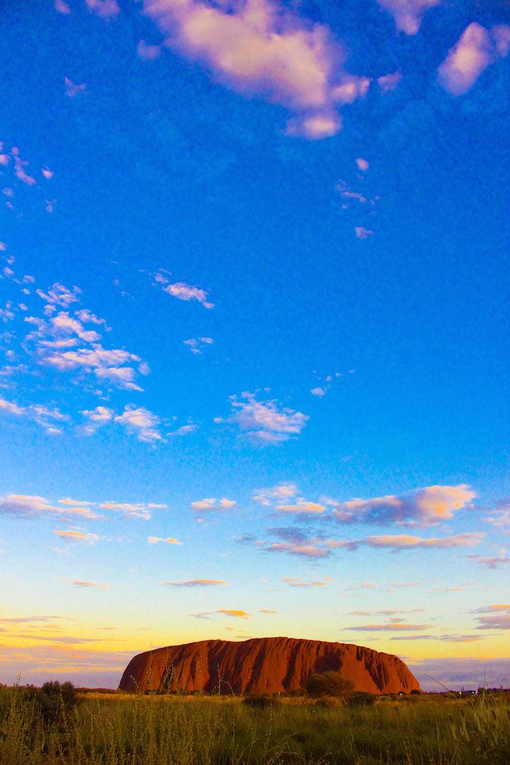エアーズロックの風景