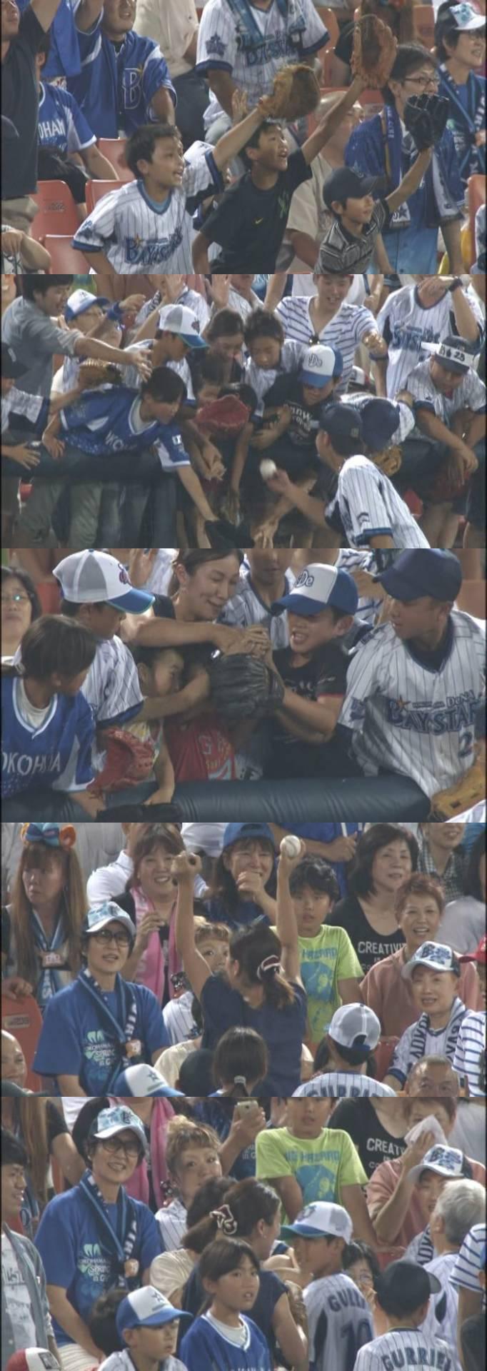 プロ野球選手が子供に渡したボールをババアが力尽くで奪い取るw