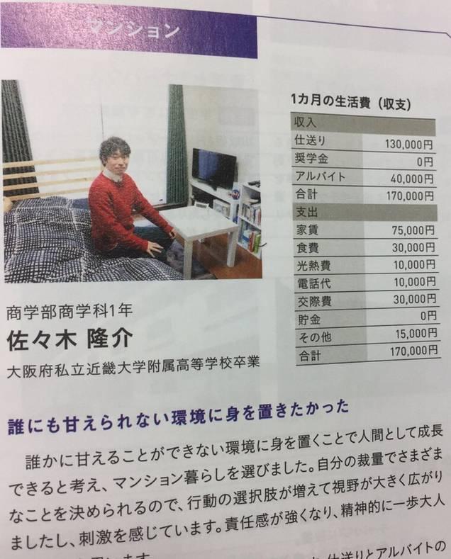 仕送り13万円