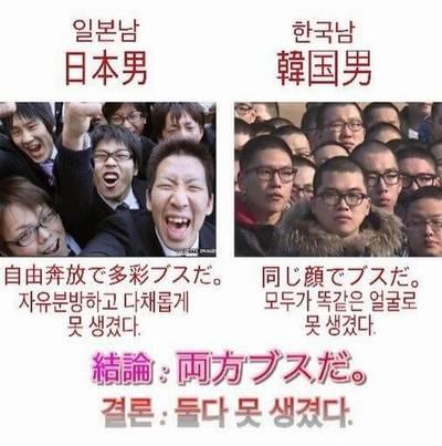韓国人 日本人 顔