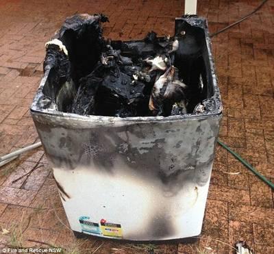 サムスン洗濯機爆発