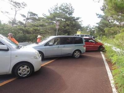 高江反対派道路封鎖