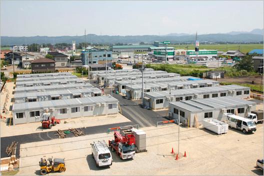 中越沖地震時の仮設住宅