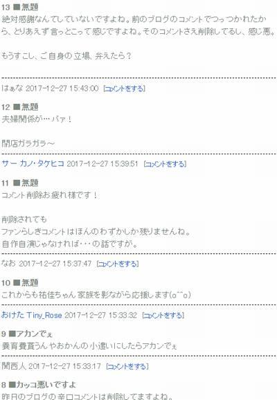 岡田祐佳ブログコメント2