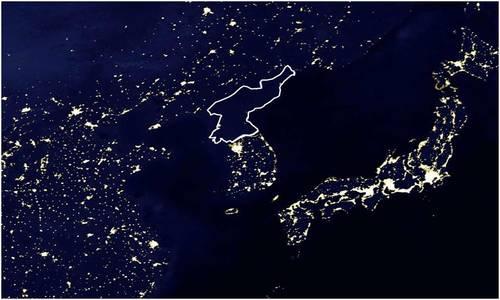 北朝鮮明かり無し