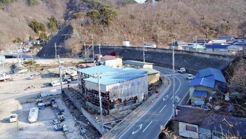 防潮堤が機能して被害を受けなかった太田名部地区