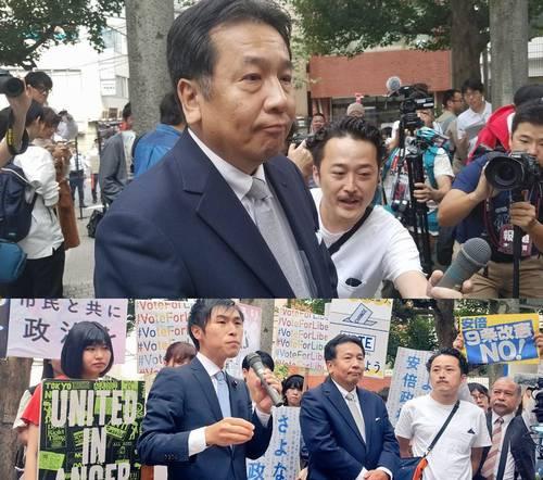 安倍総理演説妨害 立憲民主党関係者3