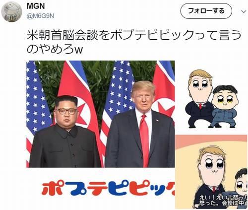 米朝首脳会談 ポプテピピック