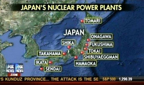 FOXによる日本の原発マップ