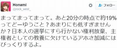 五寸釘ほなみさん、京都市長選に吠える「日本人の選挙にすら行かない権利放棄、主権者としての教養に欠けるアホさ加減にはびっくり」