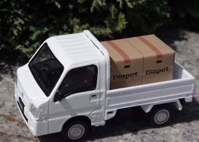 ダイヤペット DK-5115 1/36スケール サンバー軽トラック 幌付き