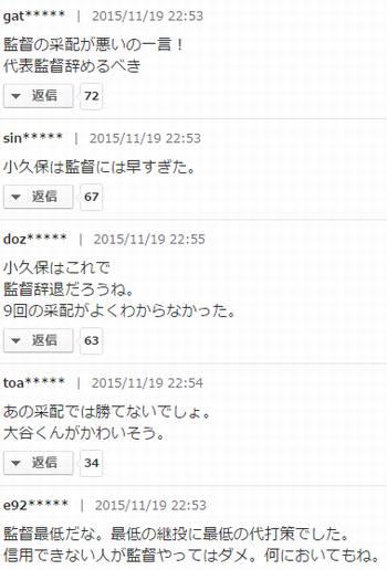 【プレミア12】侍ジャパン敗北でヤフコメが前代未聞の8000コメ超えwww