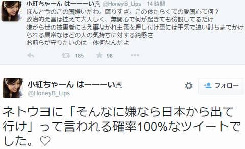 SEALDs橋本紅子さん「ほんと今のこの国嫌いだわ。腐りすぎ」「もっと民度の高い国に移住したい」
