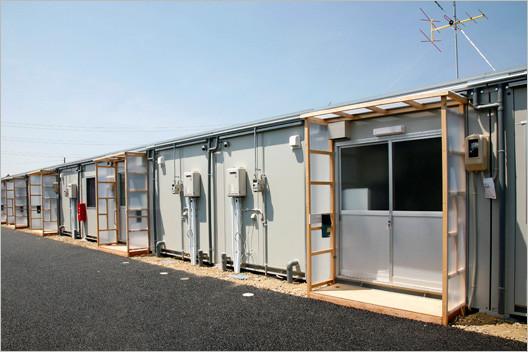 新潟中越地震の時の仮設住宅
