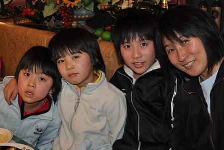 平野美宇 家族写真