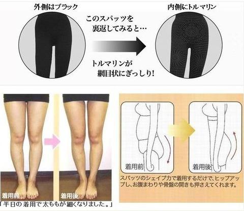 スポーツ用の伸縮性に優れた脚やせ、美脚スパッツ
