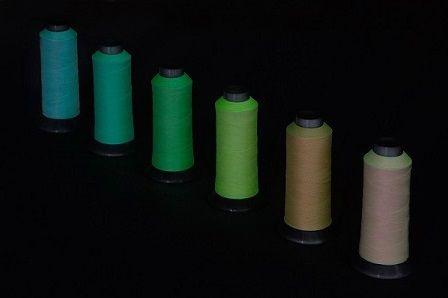 蓄光糸ファークリンプ天然素材発光する繊維糸商品製品開発企画アイデア