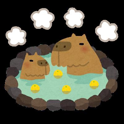 【大晦日】年越しに見てたいカピバラが檜風呂に浸かる様子wwwwwwwww