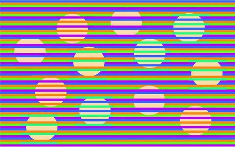 【画像あり】この画像の円が全て同じ色という事実wwwwwwww