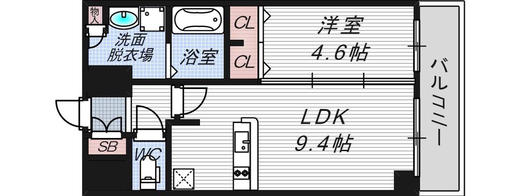 1LDK 4号タイプ