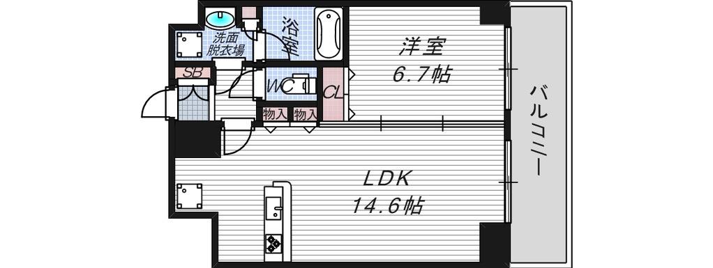 1LDK 3号タイプ