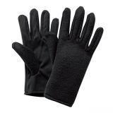 手袋したままスマホを操作!クリーナー付スマホグローブ [男女兼用・フリーサイズ] (ブラック)