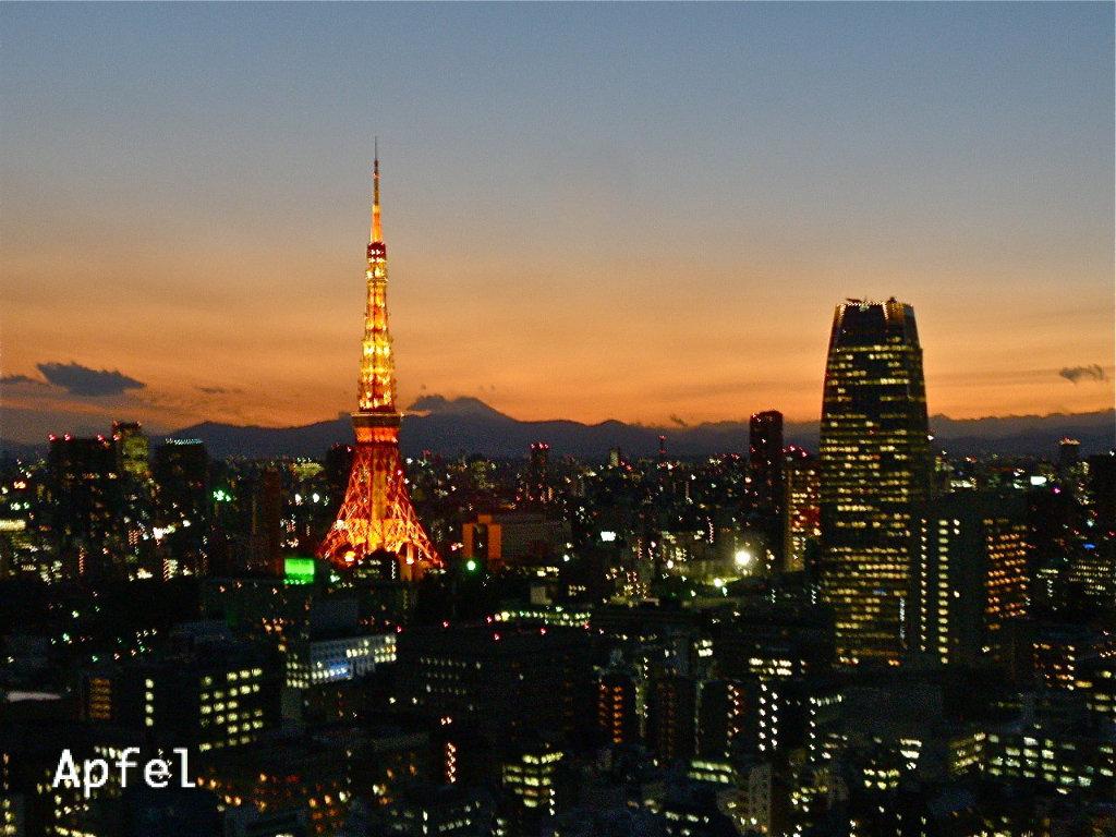 ライトアップされた東京タワー ... : 日本の湾 : 日本