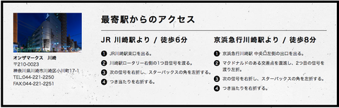 アクセス|川崎のホテル【公式】オンザマークス