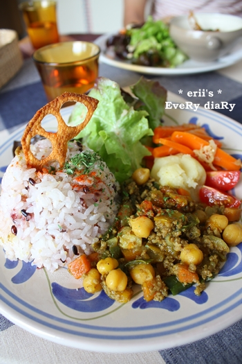 ひよこ豆とお野菜のドライカレー
