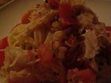 ココリ蟹トマトパスタ