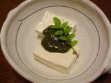 木の芽みそ豆腐