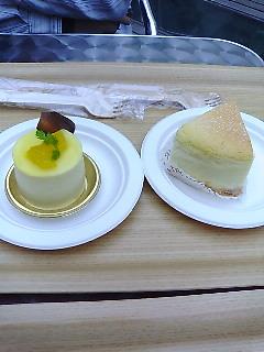 二つのチーズケーキ