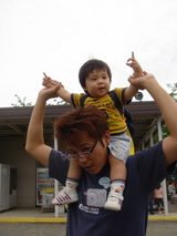 熊本城 肩車