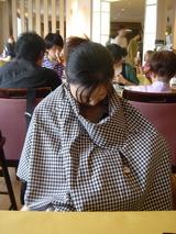 熊本城をあとにして授乳