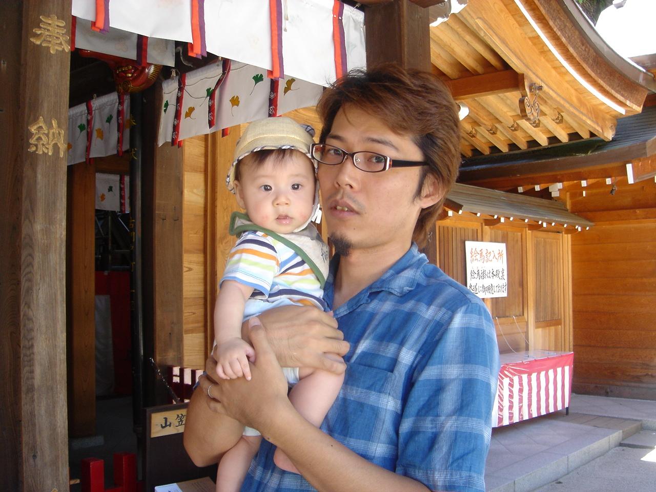櫛田神社のパパちゃんとがっちゃん