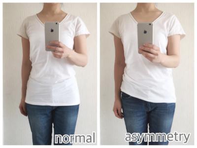 Tシャツの裾