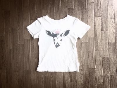 鹿イラストTシャツ