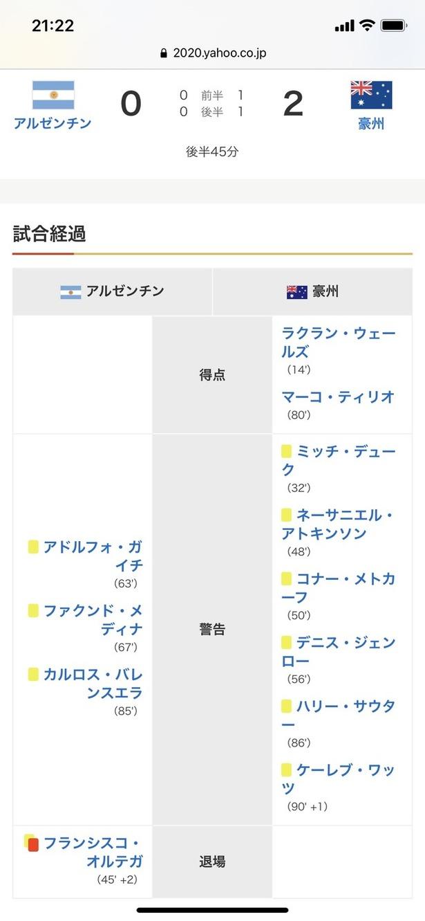 【悲報】アルゼンチンvsオーストラリアの試合がくっそ荒れてしかもアルゼンチンが逝った模様wwwwwwww