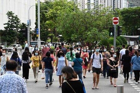 シンガポール、接種率8割でも感染急増 「コロナ共存」へ試練  [9/14]