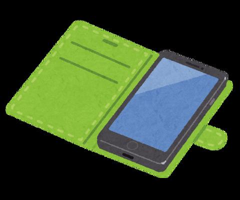 手帳型スマホケースのメリット、左側から覗かれるのを防げる